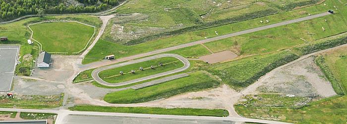 Oval- och passbana på GHP